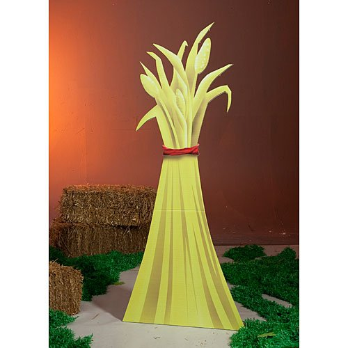 7 ft. 2 in. Western Cowboy Cornstalks Photo Booth Prop Background Backdrop Party Supplies Decoration Decor Scene Setter]()