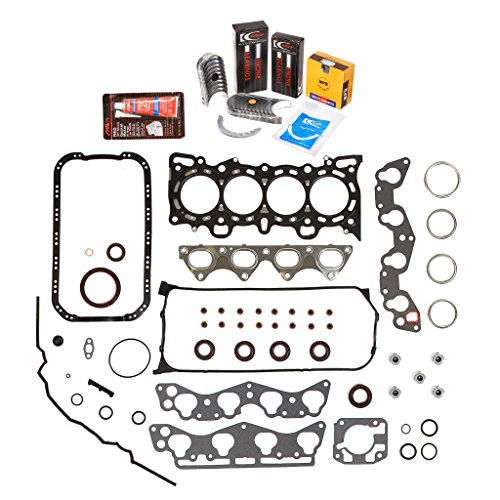 Evergreen Engine Rering Kit FSBRR4029\0\0\0 Fits 96-00 Honda Civic 1.6 D16Y5 D16Y7 Full Gasket Set, Standard Size Main Rod Bearings, Standard Size Piston Rings