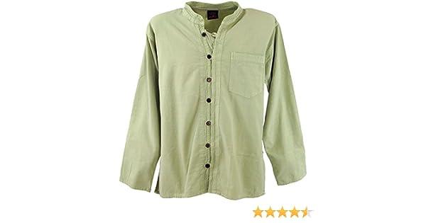 GURU-SHOP, Camisa de Yoga, Hippie, Camisa Goa, Cañas, Algodón, Tamaño:L, Camisas de Hombre: Amazon.es: Ropa y accesorios