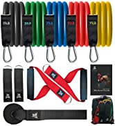 BOB AND BRAD Resistance Bands, Resistance Bands Set for Workout Stackable Up to 125-150 lbs, Exer...