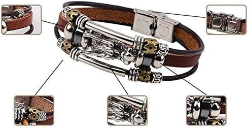 AIUIN Bracelet Chaine Corde en Cuir Multicouche Style Dragon Chinois Bijoux Poignet d/écoration Romantique Cadeau de Mariage No/ël