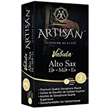 Artisan Alto Saxophone Reeds. E flat. Premium Quality. Strength 3, Box of 10. Durable, Long Lasting, made w/Best Grade Cane for a Full Sound.