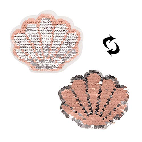 Horse Patch - 1pcs Women Stickers Reversible Change Color Pink 10cm Shell Patches Patch Deal With It Clothes - Vacation Nibba Quote Teddy Bear Sleeve Depression Quotes Shoes Earrings Novel