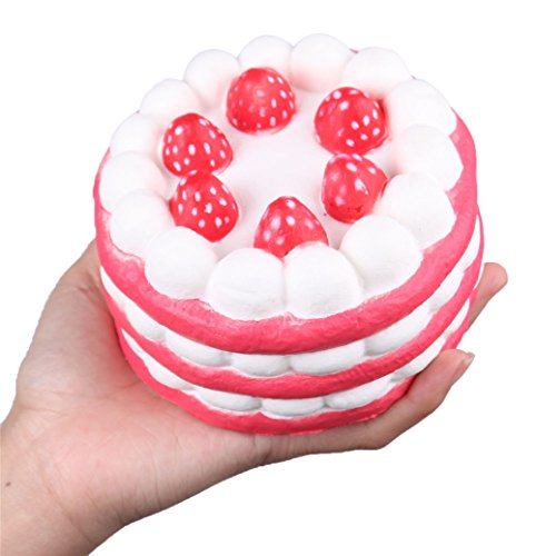 Anboor Squishies Cake Slow Rising Kawaii Squishies Toy for Collection Gift Color Random (Marshmallow Squishy Bun)