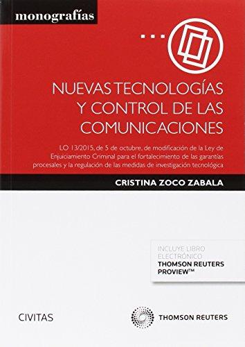 Descargar Libro Nuevas Tecnologías Y Control De Las Comunicaciones Cristina Zoco Zabala