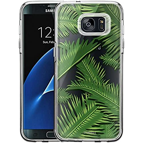 Samsung Galaxy S7 Edge Case, Slim Fit Snap On Cover by Trek Palm Jungle Clear Case Sales