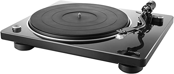 Denon DP-400 Semi-Automatic Analog Turntable with Speed Auto Sensor | Specially Designed Curved Tonearm | Supports 33 1/3