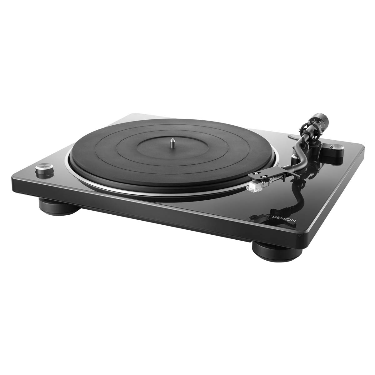 Denon DP-400 Semi-Automatic Analog Turntable with Speed Auto Sensor | Specially Designed Curved Tonearm | Supports 33 1/3. 45, 78 RPM (Vintage) Speeds | Modern Looks, Superior Audio DP400