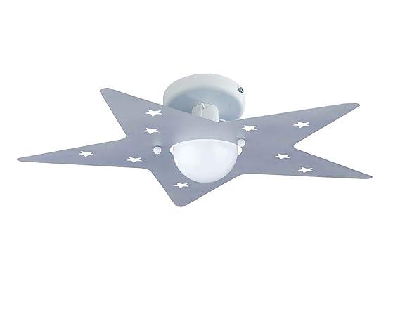 Plafoniere Per Stanzette : Plafoniera stella grigio argento per camerette stanzette bambini