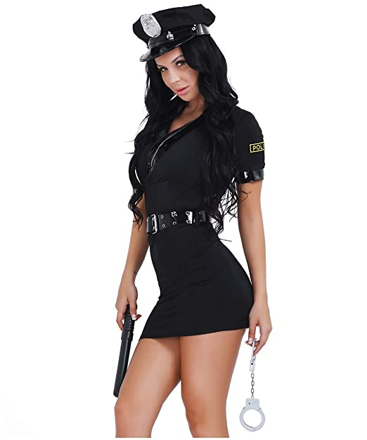 iiniim Policia Disfraz para Mujeres Adultos Disfraces ...