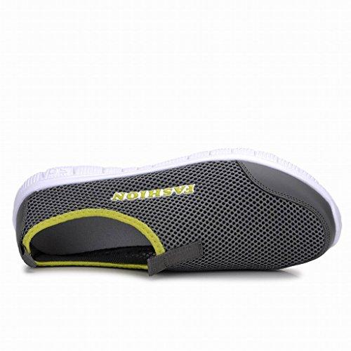 L LOUBIT Men Fashion Sneakers Summer Mesh Running Shoes Slip On Jogging Shoes Drak Gray 3Cafl2TR