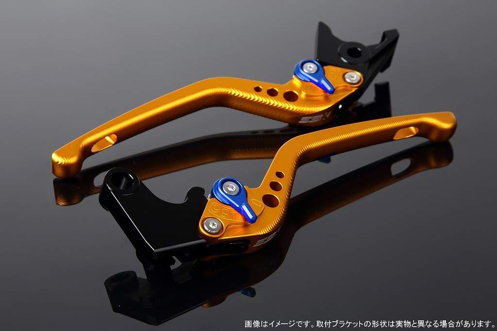 SSK アジャストレバー 3Dロング レバー本体カラー:マットゴールド アジャスターカラー:マットブルー CRF1000L Africa Twin LVEM017GD-BE B07MX8P9FF