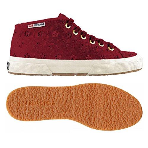 2754 sangallosatinw PRUNE Donna Alto Sneaker Collo a Superga OBSwO
