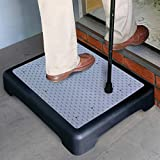 North American Health and Wellness - JR5919 - Non-slip Outdoor Step - Mobility Step - Black and Gray