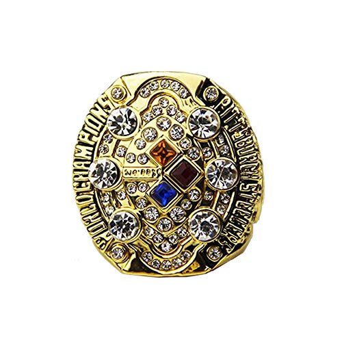 Gloral HIF Pittsburgh Steelers 2008 Super Bowl XLIII World Replica Championship Ring Gold Without Box