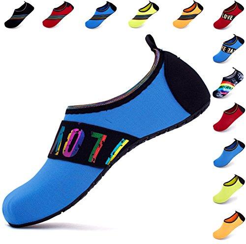 Giotto SportsWaterShoesSwimYogaBeachAquaSocksForWomenMen Love/Blue Uxy6b