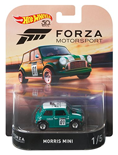 Hot Wheels 2018 Forza Motorsport Morris Mini Vehicle, 1:64 Scale