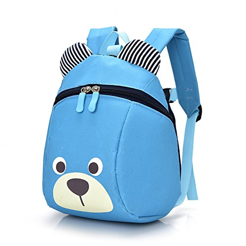 Cute Bear Small Toddler Backpack With Leash Children Kids Backpack Bag for Boy Girl (blue) by I IHAYNER