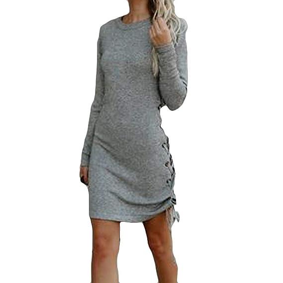 Vendaje de Las Mujeres Mini Vestidos, Vestido Ajustado Gimnasio Vestido de Moda sólido