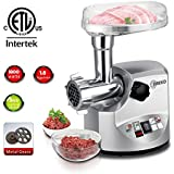 O-Breko Multifunctional Electronic Meat Grinder Mincer with 1800W Stainless Steel Cutting Blade Home Kitchen Tool