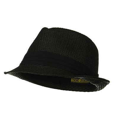 58db2fc94e3d45 Over Size Fedora Hat - Black Black Band W08S58F at Amazon Men's ...