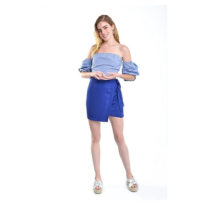 LOB-Falda Corta Azul Rey DFCX0139  Amazon.com.mx  Ropa c813217b985c