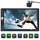 CARED 7 inch Car stereo with bluetooth/Touch screen double din MP5 player/digital Media receiver/Car radio audio support USB/TF card AUX IN with wireless remote control