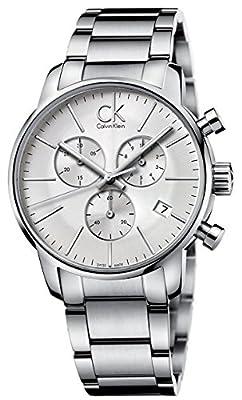 Calvin Klein K2G27146 City Chronograph Mens Watch - Silver Dial