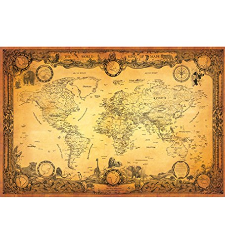 New antique style world map vintage map globe atlas old new antique style world map vintage map globe atlas old world map gumiabroncs Gallery