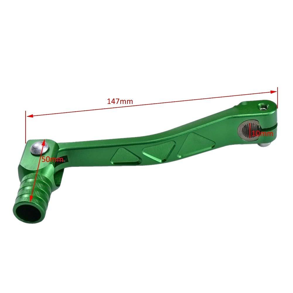 Green TDPRO 10mm CNC Gear Shifter Shift Lever for Pit Dirt Bike XR CRF 50 70