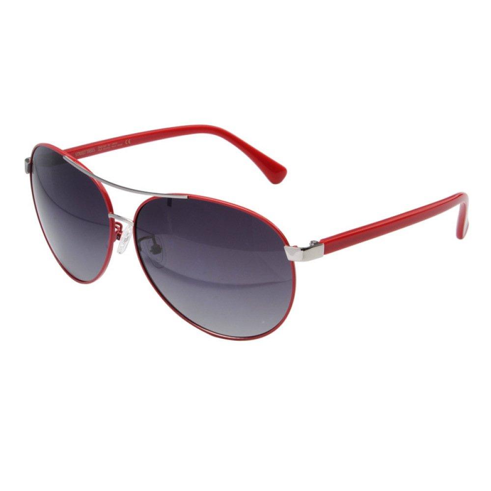 RedFrame+BlackLens OneSize Fashion Sunglasses UV Predection Radiant Ringlass Driving Lens Business Sports Large Frame Irregular Metal,WhiteFrame+BlackLens-OneSize