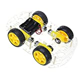 The perseids Robot Smart Car DIY Chassis Kit with Speed Encoder, Wheels and Battery Box for Arduino(4 Wheels)
