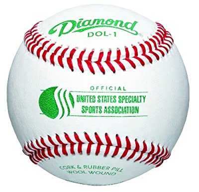 Diamond USSSA Select Wool Blend Winding Baseball, Dozen