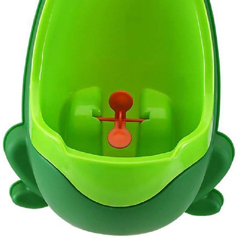 Kinder-Urinal Frosch-Form T/öpfchen mit St/änder f/ür Jungen Pissoir Training Badezimmer Gr/ün