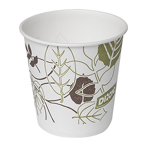 Dixie 45PATH Pathways Wax Treated Paper Cold Cup, 3 oz (Case of 24 Sleeves, 100 Cups per Sleeve)