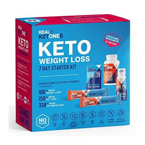 Real Ketones™ – 7 Day Keto Starter Bundle Kit – Exogenous Ketone BHB Stick Packets, BHB Pills, 15 Urine Test Strips and…