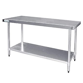 Vogue t376 mesa de acero inoxidable: Amazon.es: Industria ...