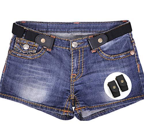Denim Nylon Coat - 2 Pack No Buckle Stretch Belt For Women/Men Elastic Waist Belt Up to 48