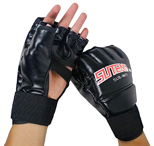 SUTENG MMA Muay Thai Training Punching Bag Half Mitts Sparring Boxing Gym (Muay Thai Punch Bag)