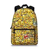 Emoji Children backpack Canvas School Book Bag for Teens