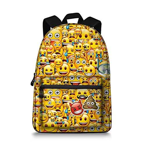 Emoji Children backpack Canvas School Book Bag for Teens