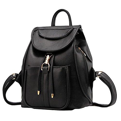 Women's Large Size Ladies Fashion Ladies Shoulder Bag College Wind Shoulder Bag Black