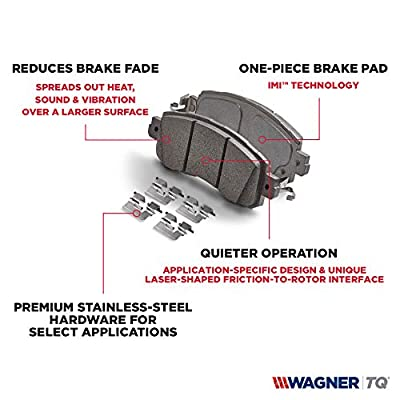 Wagner ThermoQuiet MX779 Semi-Metallic Disc Pad Set, Rear: Automotive