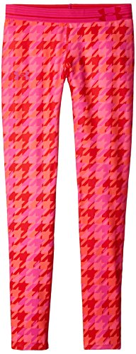 Under Armour Girls' HeatGear Armour Printed Legging, Pomegranate/Rebel Pink, Youth Large