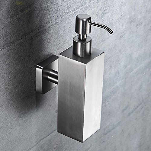 WINCASE Brushed Nickel Finish Shower Pump Shampoo and Soap Dispenser Stainless Steel Wall Mounted Modern Bathroom Hardware