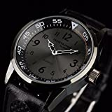Mens Quartz Wrist Watch Analog Army Sport Black Leather US
