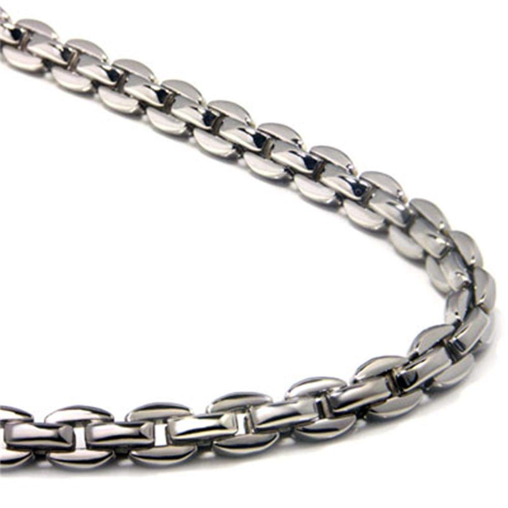 Titanium Men's 5MM Oval Link Necklace Chain 16''