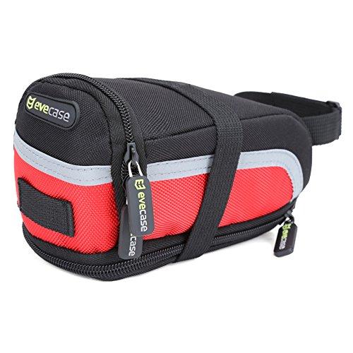 Bike Saddle Bag - Evecase Bicycle Strap-On Under Seat Trail Pouch Bag - Medium