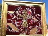 Cross Stained Glass window Art Sun Catcher, Christian Art
