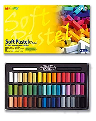 Mungyo Soft Drawing Art Pastels 48 Colors Square Chalk Non-toxic